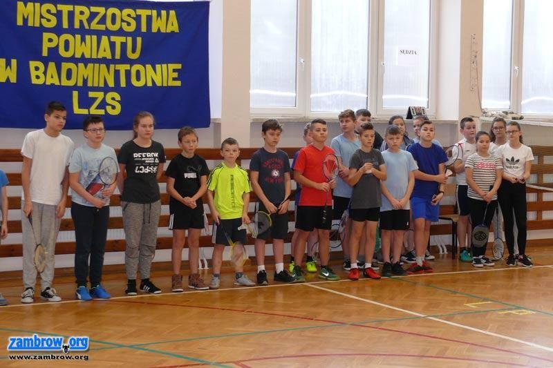 tenis ziemny tenis stołowy badminton, Wyniki Mistrzostw Powiatu Zambrowskiego badmintonie - zdjęcie, fotografia