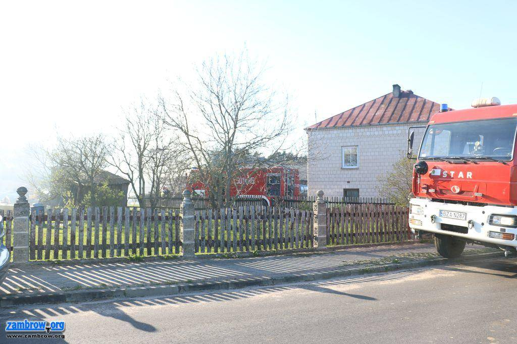 straż, Spłonęła obora Krajewie Budziłach [foto+video] - zdjęcie, fotografia