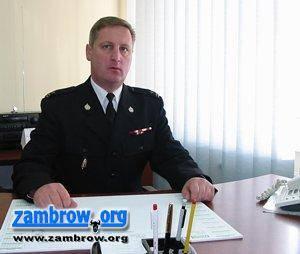 pożary i straż, Wywiad Komendantem Powiatowym Państwowej Straży Pożarnej Zambrowie Markiem - zdjęcie, fotografia