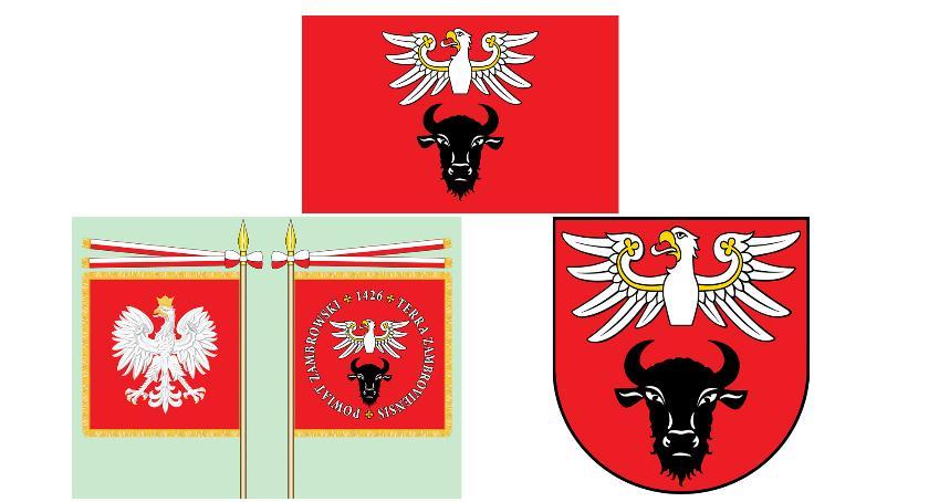 samorząd, Powiat Zambrowski nowymi insygniami - zdjęcie, fotografia