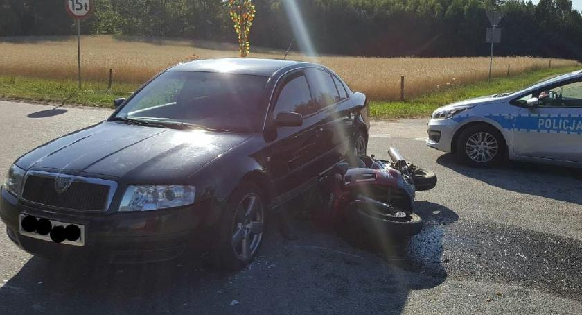 wypadki drogowe, Wypadek Głęboczu Wielkim Śmigłowiec zabrał poszkodowanego [foto] - zdjęcie, fotografia