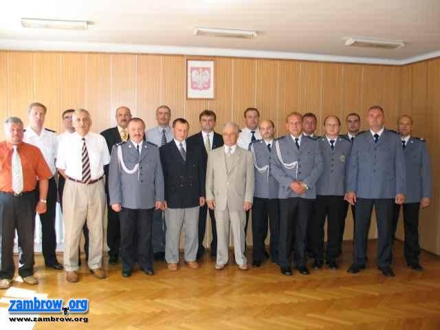 policja, Święto Policji Zambrowskiej Komendzie - zdjęcie, fotografia