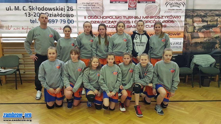 koszykówka, Dziewczęta Orkan podium turnieju Działdowie - zdjęcie, fotografia