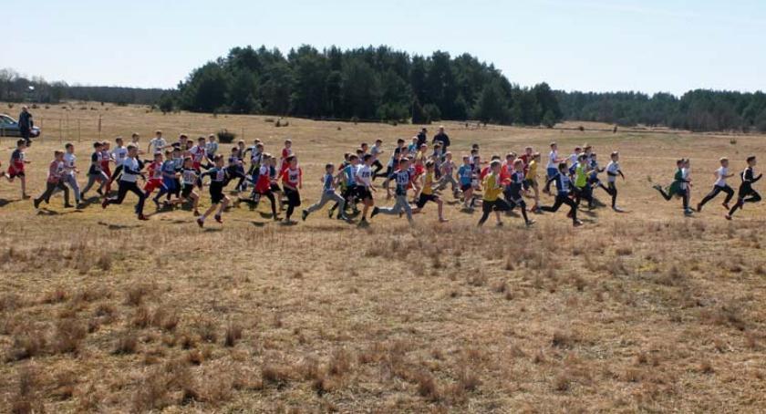 bieganie lekkoatletyka unihokej, Biegi przełajowe powiatu zambrowskiego - zdjęcie, fotografia