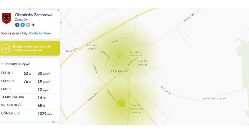 inwestycje, Sprawdź jakość powietrza Zambrowie! - zdjęcie, fotografia
