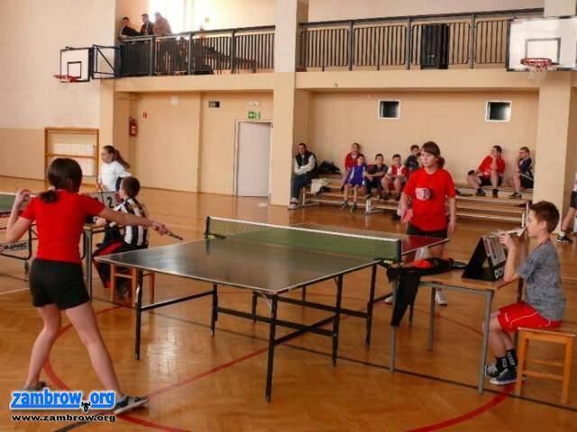 sport_, Mistrzostwa Powiatu Zambrowskiego Tenisie Stołowym - zdjęcie, fotografia