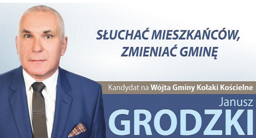 materiał wyborczy, Janusz Grodzki apeluje mieszkańców gminy Kołaki Kościelne - zdjęcie, fotografia