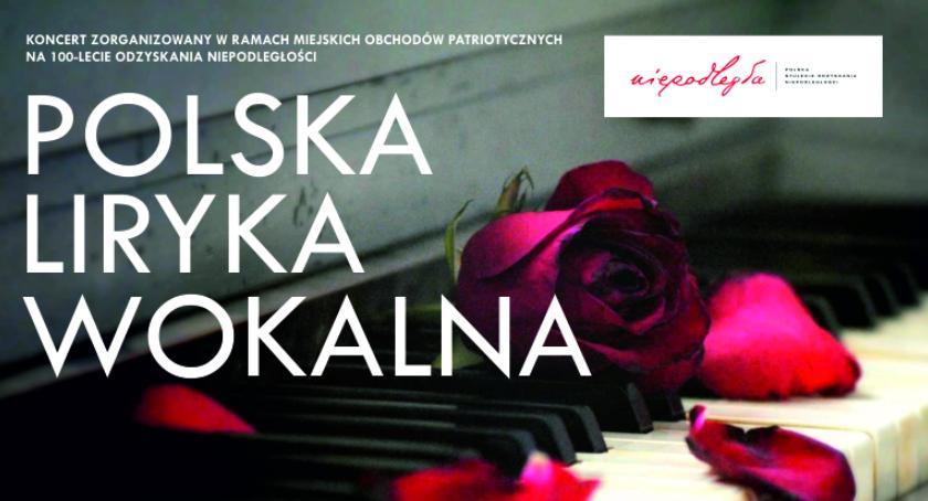 muzyka koncerty, Polska liryka wokalna lecie odzyskania niepodległości - zdjęcie, fotografia