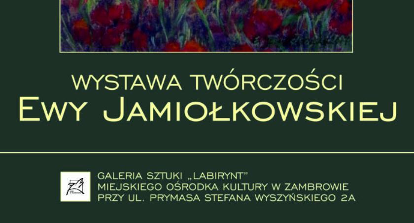 wernisaże spotkania, Zapraszamy wernisaż wystawy twórczości Jamiołkowskiej - zdjęcie, fotografia
