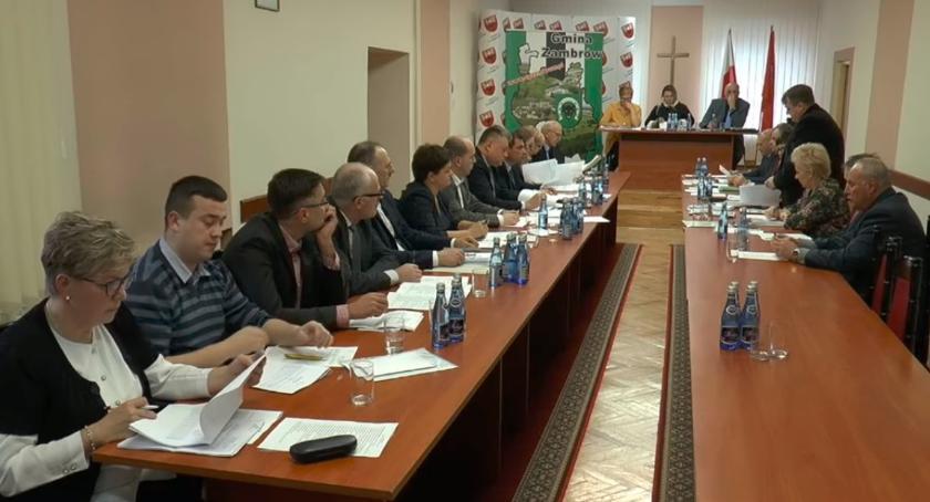 Rada Gminy Zambrów radni, sesja Gminy Zambrów - zdjęcie, fotografia