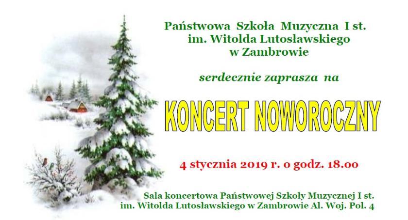 muzyka koncerty, Zapraszamy Koncert Noworoczny - zdjęcie, fotografia