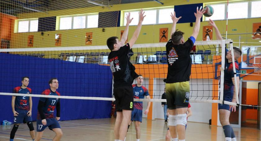 siatkówka piłka ręczna, Siatkarze zagrali WOŚP [foto] - zdjęcie, fotografia