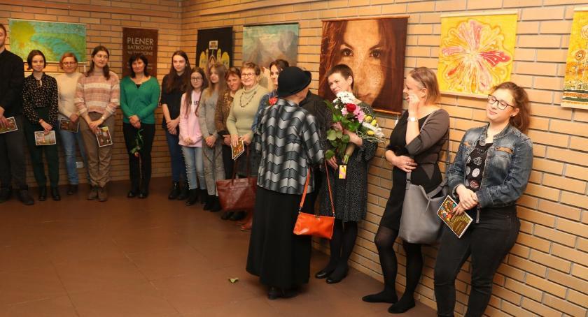 wernisaże spotkania, Wernisaż wystawy Pracowni Tkaniny [foto] - zdjęcie, fotografia