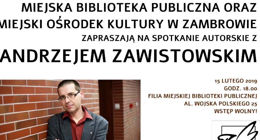 wernisaże spotkania, Polska Rzeczpospolita Reglamentowana Spotkanie autorskie Andrzejem Zawistowskim - zdjęcie, fotografia
