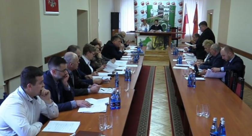 Rada Gminy Zambrów radni, Radni Gminy Zambrów spotkali czwarty kadencji [retransmisja] - zdjęcie, fotografia
