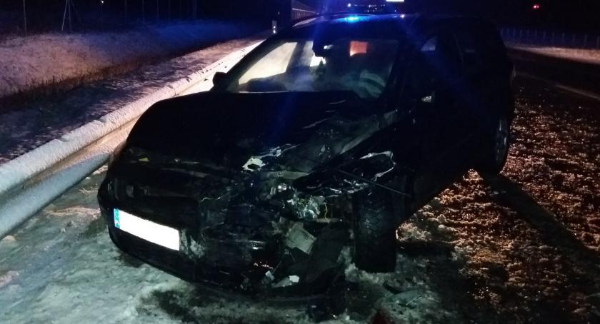 wypadki drogowe , Kolizja trzech [foto] - zdjęcie, fotografia