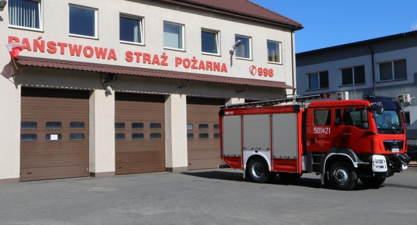 pożary i straż, Zambrowie samochód ratowniczo gaśniczy - zdjęcie, fotografia