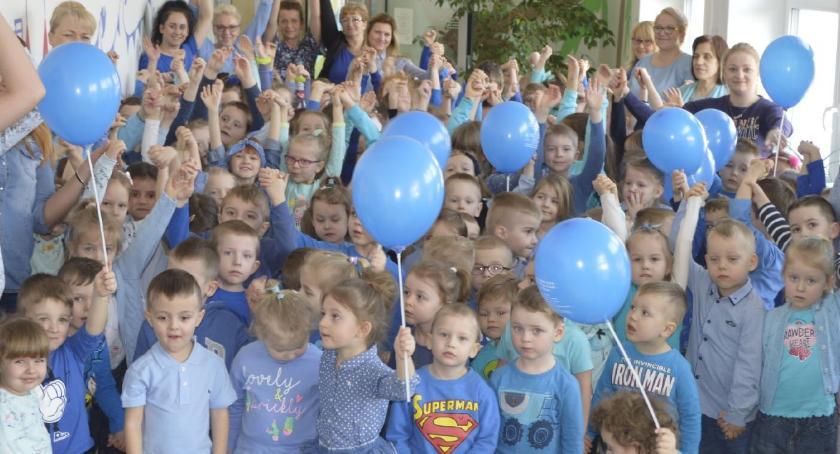 edukacja, Niebieska akcja Długoborzu - zdjęcie, fotografia