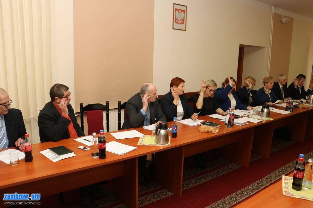 Rada Gminy Zambrów radni, sesja Gminy Zambrów [retransmisja] - zdjęcie, fotografia