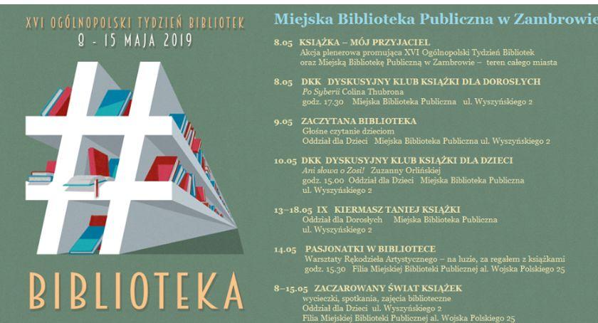 książki publikacje, Ogólnopolski Tydzień Bibliotek Miejskiej Bibliotece Publicznej Zambrowie - zdjęcie, fotografia