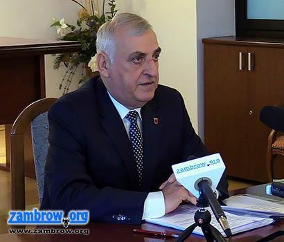 samorząd, Konferencja prasowa Burmistrza Miasta Zambrów [retransmisja] - zdjęcie, fotografia