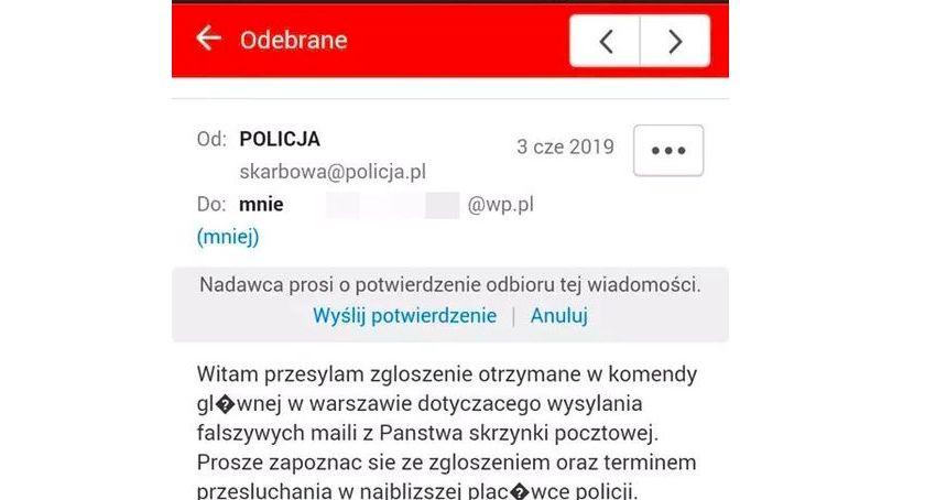policja, Uwaga fałszywe maile! Oszuści podają policję - zdjęcie, fotografia