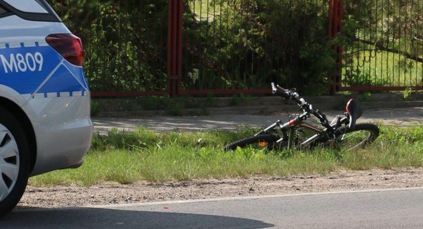 wypadki drogowe , letni rowerzysta potrącony [foto] - zdjęcie, fotografia