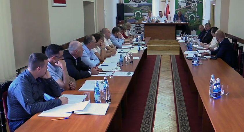 Rada Gminy Zambrów radni, Wójt Gminy Zambrów absolutorium - zdjęcie, fotografia