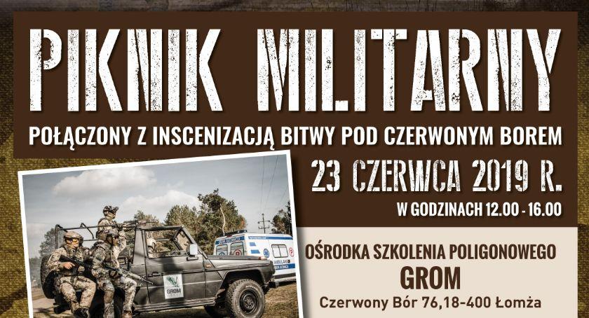 komunikat, Zapraszamy Piknik Militarny połączony inscenizacją bitwy Czerwonym Borem - zdjęcie, fotografia