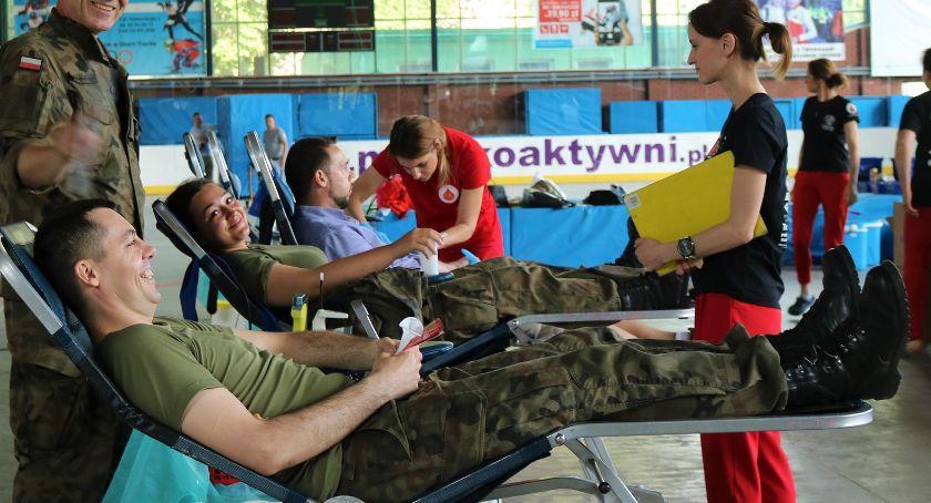 wydarzenia, litrów zebrano podczas sobotniej akcji Krwioobieg Terytorialsa - zdjęcie, fotografia