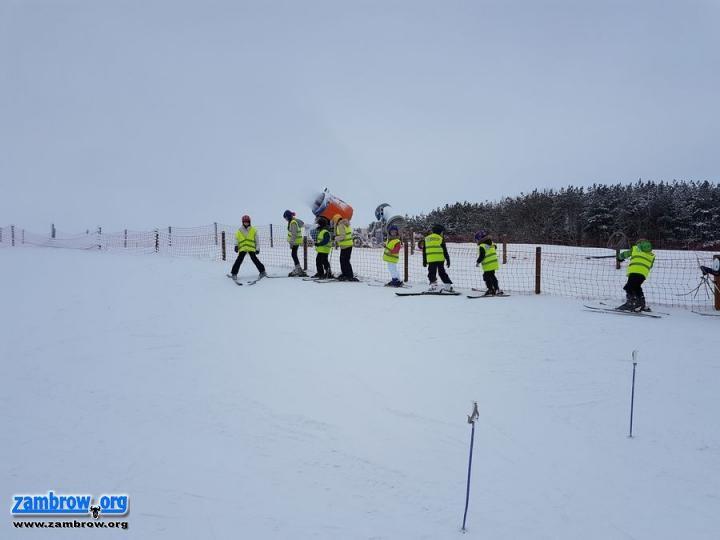 rekreacja wypoczynek, Szusowali nartach Rybnie [foto] - zdjęcie, fotografia