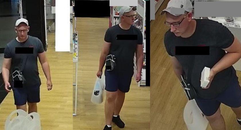osoby poszukiwane, Kradzież perfum galerii Zambrowie Policja poszukuje mężczyzny - zdjęcie, fotografia