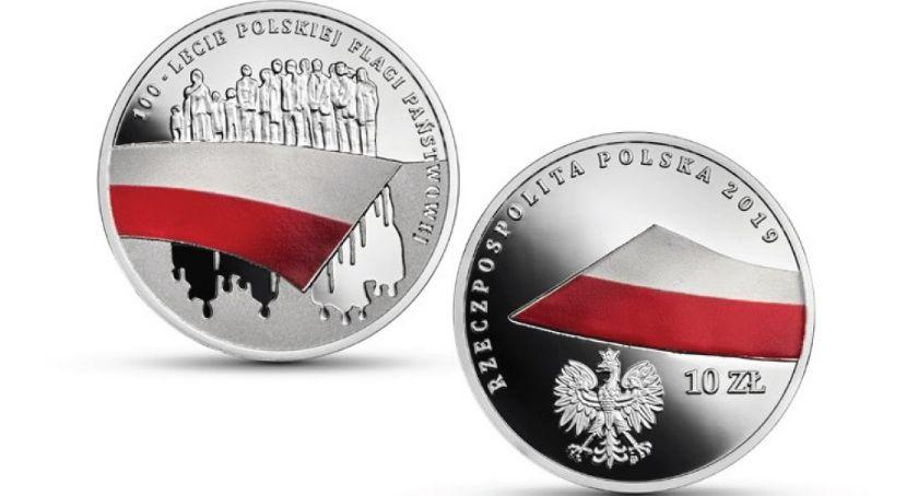 wydarzenia, lecie polskiej flagi państwowej wydał nową monetę kolekcjonerską - zdjęcie, fotografia