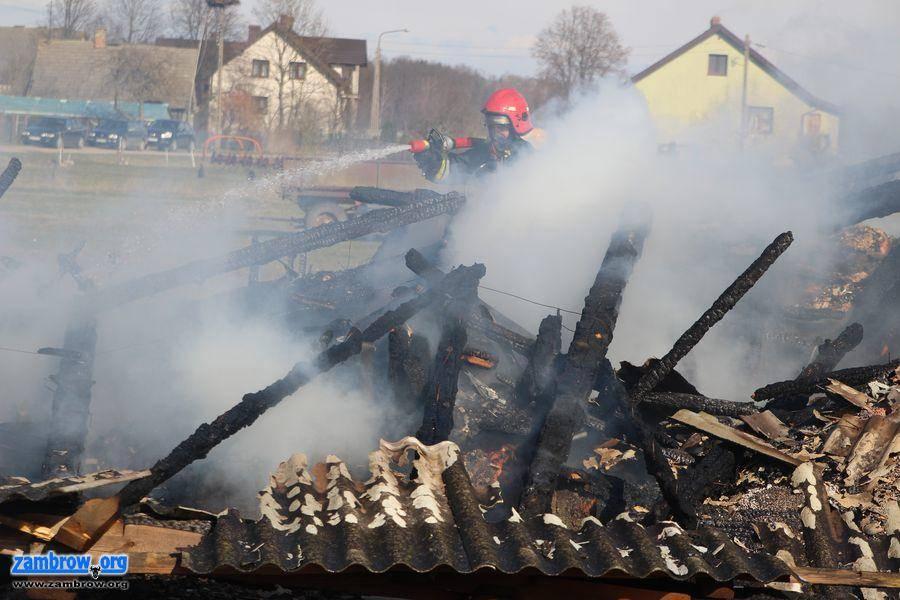 straż, Pożar stodoły Żabikowie Rządowym [foto+video] - zdjęcie, fotografia
