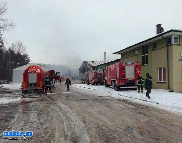 straż, pożar przemysłowej [foto+video] - zdjęcie, fotografia