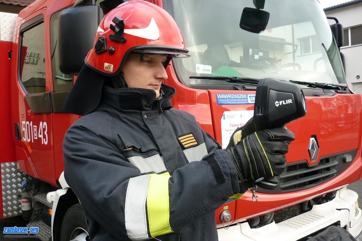 pożary i straż, Noworoczny prezent zambrowskiej straży [foto] - zdjęcie, fotografia
