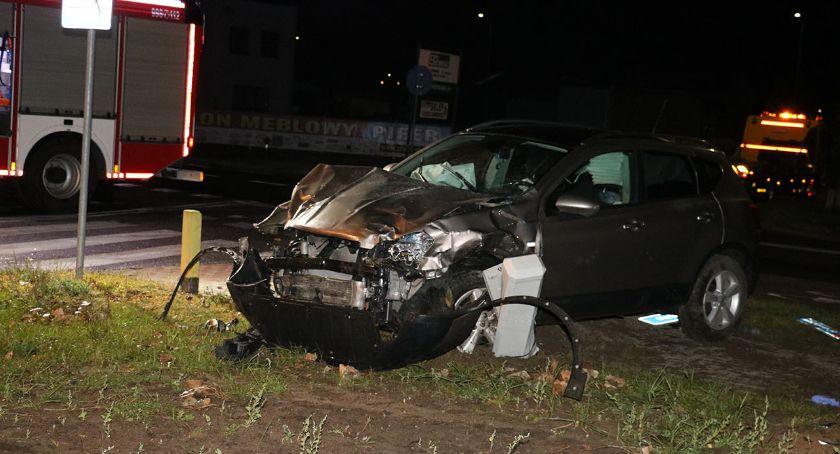 wypadki drogowe , Kolizja skrzyżowaniu Targowej [foto] - zdjęcie, fotografia