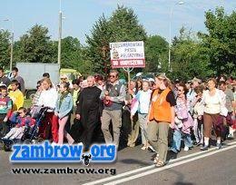 religia, Zambrowskie Pielgrzymka wyruszyła Hodyszewa - zdjęcie, fotografia