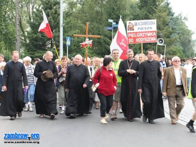 religia, Dziś pielgrzymi Zambrowa dotrą Hodyszewa - zdjęcie, fotografia