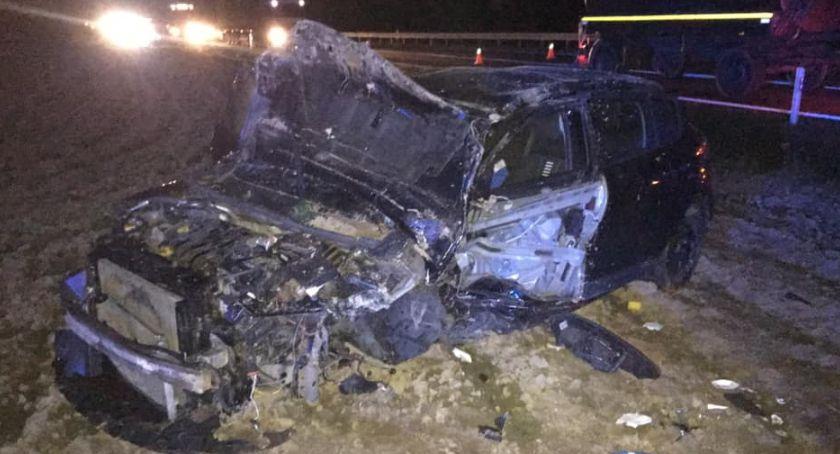 wypadki drogowe , Zderzenie dwóch osobówek drodze Zambrów Wysokie Mazowieckie [foto] - zdjęcie, fotografia