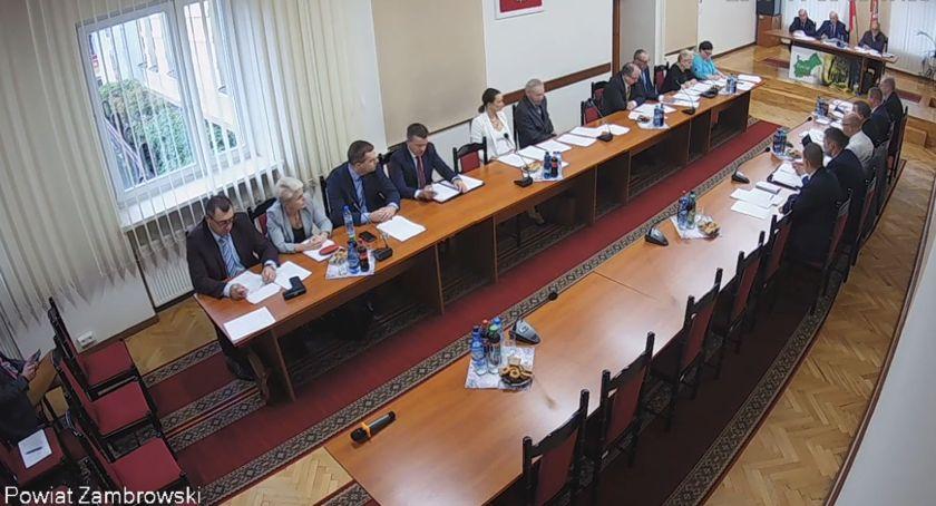 Rada Powiatu Zambrowskiego radni, sesja Powiatu Zambrowskiego [retransmisja] - zdjęcie, fotografia