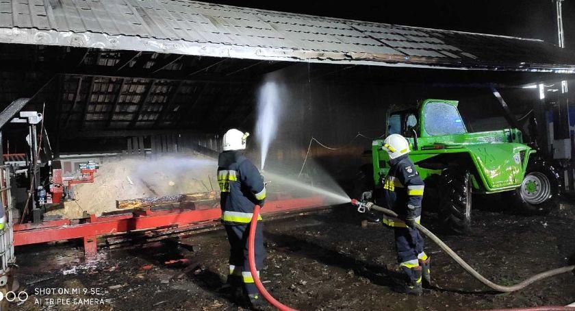 pożary i straż, Pożar tartaku Kołakach Kościelnych - zdjęcie, fotografia