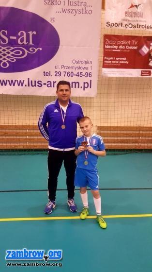 piłka nożna futsal, Zwycięstwo drużyny Olimpii turnieju piłkarskim Ostrołęce - zdjęcie, fotografia