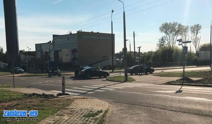 policja, Potrącenie przejściu pieszych Droga kominie zablokowana - zdjęcie, fotografia