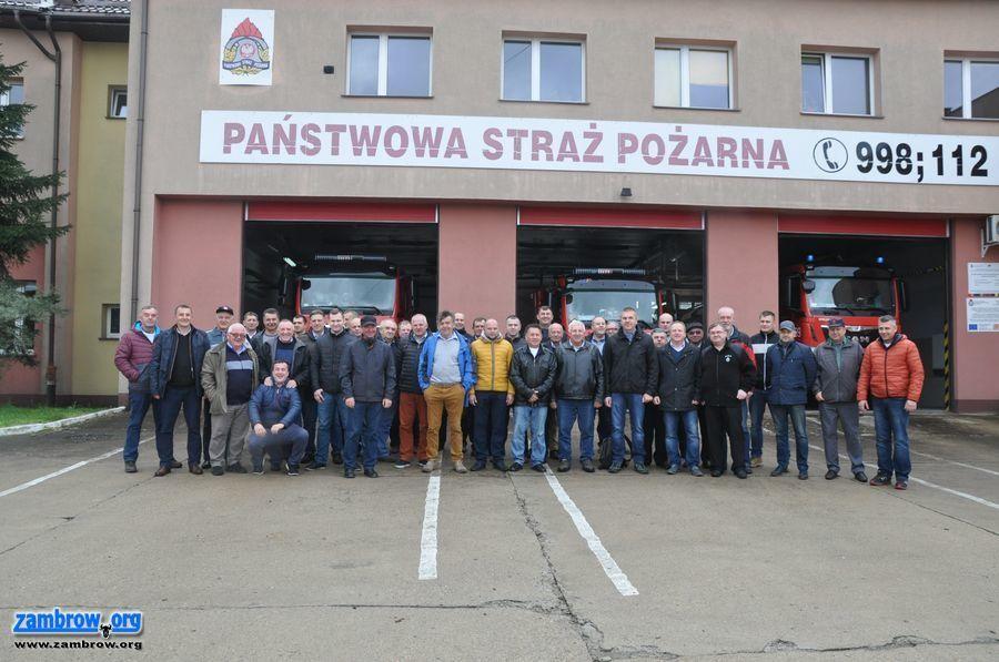 straż, Wyjazdowe szkolenie strażaków powiatu zambrowskiego - zdjęcie, fotografia