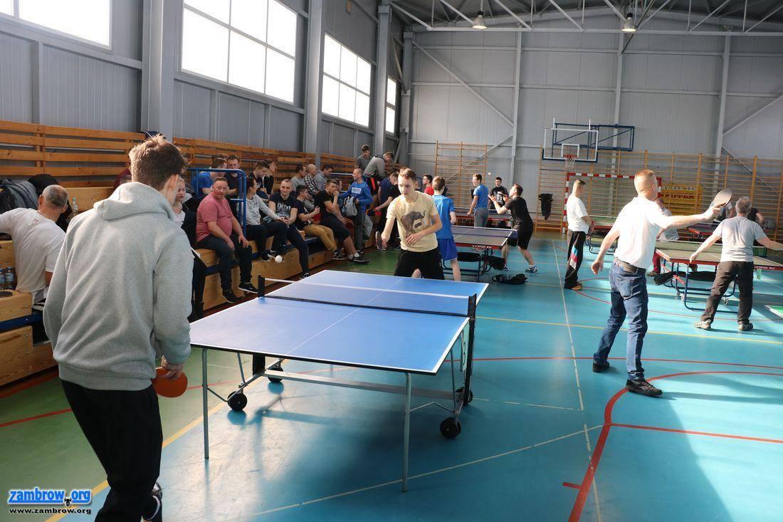 sport_, Rozegrano Otwarte Mistrzostwa Gminy Zambrów Tenisie Stołowym [foto] - zdjęcie, fotografia