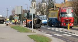 Ruch wahadłowy na Mazowieckiej. Trwają prace drogowe