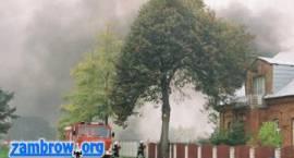 Ćwiczenia zgrywające Straży Pożarnej w Zambrowie
