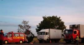 """W środę w wypadku na """"ósemce"""" ranni zostali pracownicy Instytutu Budowy Dróg i Mostów"""