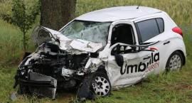 Wypadek na trasie Łomża - Mężenin. Droga zablokowana